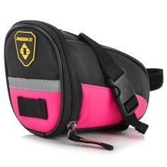 INBIKE B576 PU & Oxford Fabric Cycling Saddle Bag Black & Pink Bike Bicycle Bag