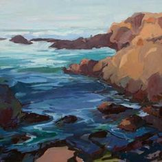 Beach Watch, California Coast, Seascape Paintings, Dusk, Lowes, Coastal, Ocean, Gallery, Water
