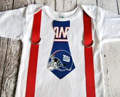 NFL New York Giants Football Inspired Tie and by SewBeachyBoutique c1552195c