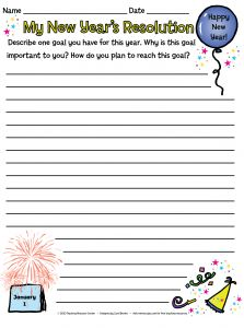 New Year Resolution Template For Students from i.pinimg.com