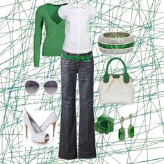 green and white Must Have!!