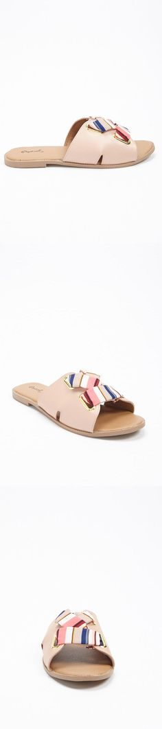 85a9f5b1570bbb Striped Strap Slide Sandals    18.00 USD    Forever 21 Forever 21 Shoes