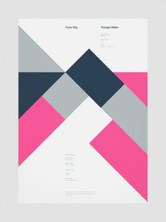 Creative Geometric, Poster, Branding, and Beautiful image ideas & inspiration on Designspiration Graphic Design Posters, Graphic Design Typography, Graphic Design Illustration, Graphic Design Inspiration, Geometric Graphic Design, Geometric Shapes, Simple Poster Design, Geometric Designs, Poster Cars