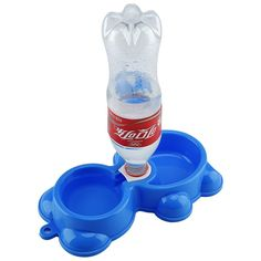 GOGOKING Winnie The Pet Bowl Plastic Bowl Dog Bowls Drinking Water Feed Dual Bowl - Use Dog And Cat And Small Pets (blue) -- Check this awesome product by going to the link at the image.