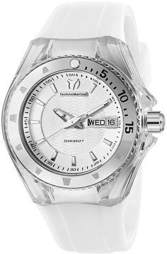 TechnoMarine Womens Cruise Diamond Chronograph Stainless Watch - White Rubber Strap - White Dial - 111045  http://www.originalwatchstore.com/brand/technomarine/