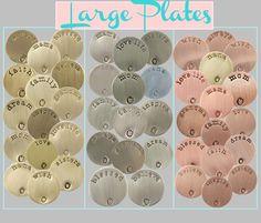 Large Origami Owl Plates. www.alexisrobbins.origamiowl.com