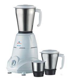 Bajaj Rex Mixer Grinder with 3 Jars (White) - Best Kitchen and Home Appliances Kitchen Jars, Kitchen Store, Small Kitchen Appliances, Cool Kitchens, Home Appliances, Spiral Vegetable Slicer, Grinder, Thing 1
