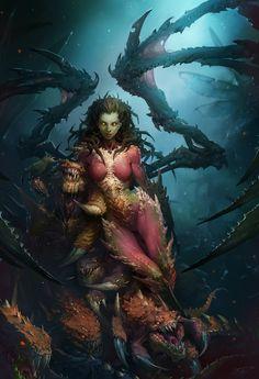 StarCraft II artwork: Kerrigan