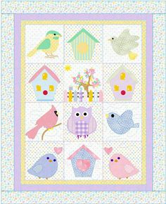Baby Quilt Pattern Summers Here Baby Quilt by KinderGardenDesigns, $10.60