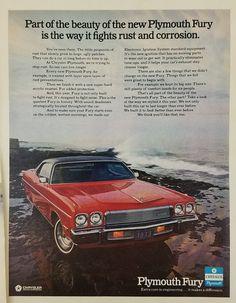 1972 Plymouth Fury Automobile Vintage Ad