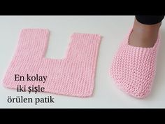 Easy Garter Stitch Slippers Free Knitting Pattern - Video: Easy One Piece Garter Stitch Slippers Free Knitting Pattern for men and women Crochet Slipper Pattern, Crochet Poncho Patterns, Crochet Socks, Easy Knitting Patterns, Knitting Socks, Knitting Designs, Free Knitting, Baby Knitting, Knit Crochet