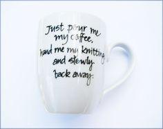 Mug for Knitters/Knitting: Coffee (or Tea) Warning