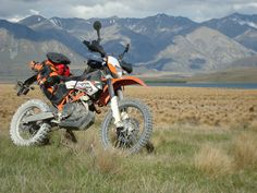 KTM 690 Enduro R at Lake Heron
