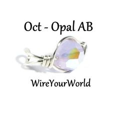 October Birthstone Silver Ear Cuff or choose by WireYourWorld