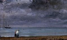 John Constable, Brighton Beach (1824). Constable took his inspiration from the beauty of his natural surroundings, although he was never fully appreciated in his own time. Constable's oil sketches have come to be seen as avant-garde in their way of portraying landscape and continue to enthrall public and critics alike.