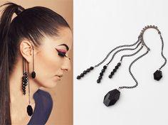 Beaded Love Tassel Ear Cuff Earring (Single) from LilyFair Jewelry