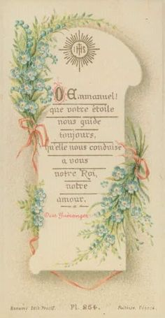 Antique HOLY CARD Vintage ihs star guide flower Bonamy Pointers picclick.com