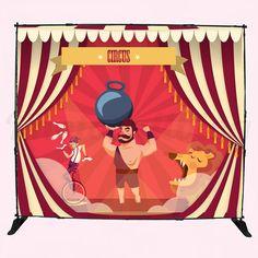 Photocall circus - bodas de circo