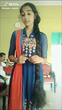 Indian Hairstyles, Down Hairstyles, Girl Hairstyles, Braided Hairstyles, Indian Long Hair Braid, Long Hair Video, Beautiful Braids, Super Long Hair, Girls Braids