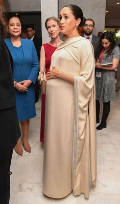 Meghan Markle Haute Couture - the Duchess of Sussex wore a Christian Dior Haute Couture Dress in Morocco. We look the details & history of haute couture. Prince Harry And Megan, Harry And Meghan, Robes Christian Dior, Style Caftan, Royal Military Academy Sandhurst, Dior Gown, Mode Abaya, Meghan Markle Style, Star Wars