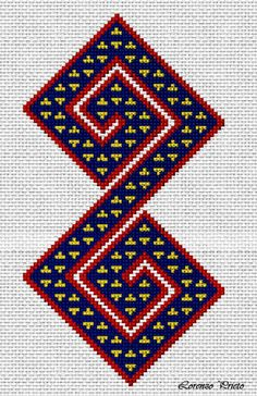 Cross Stitch Embroidery, Embroidery Patterns, Hand Embroidery, Tapestry Crochet Patterns, Weaving Patterns, Cross Stitch Borders, Cross Stitch Patterns, Mochila Crochet, Tapestry Bag