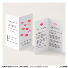 Custom Lip Product Distributor Tips & Tricks Business Card - Are you ready to take your business to the next level? Start with a new business card. Folded Business Cards, Magnetic Business Cards, Custom Business Cards, Folded Cards, Business Card Design, Lipsense Business Cards, Lips Illustration, Illustrations, Construction Business Cards