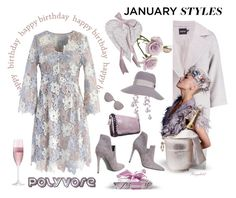 """""""January Birthday Party Dress under $100"""" by ragnh-mjos ❤ liked on Polyvore featuring Chicwish, Boohoo, Kendall + Kylie, Christian Dior, NOVICA, Maison Michel and LSA International"""