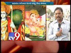 Ganesh idol immersion celebrations at Mozamjahi market