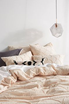 Anthropologie Textured Riji Duvet Cover - This would be so pretty on my bed. Diy Bathroom Remodel, Luxury Bedding Sets, Modern Bedding, Duvet Bedding, Architecture, Decoration, Bed Pillows, Bed Linens, Duvet Covers