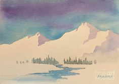 Snowy Mountain Study Painting