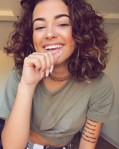 Malú 🦋 (@malutrevejo) • Photos et vidéos Instagram Curly Hair Cuts, Short Curly Hair, Curly Girl, Wavy Hair, Curly Hair Styles, Natural Hair Styles, Malu Trevejo Outfits, Hair Inspo, Hair Inspiration