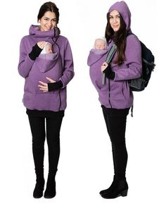 GoFuture Damen Tragejacke für Mama und Baby Känguru Klassiker GF2007XF2 Violett…