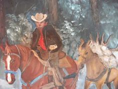 Cowboy - Original Painting on Canvas - Cowboy Art -