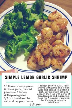 Whip up dinner in no time with our simple lemon garlic shrimp recipe! High protein, macro-friendly and super delicious. Get more recipes from 3S Fitness!
