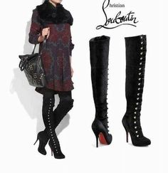 cheap louis vuitton men shoes - Christian Louboutin boots on Pinterest | Suede Boots, Thigh Highs ...