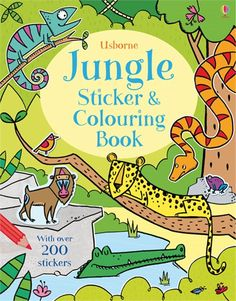 Jungle sticker and colouring book - NEW FOR JULY 2015