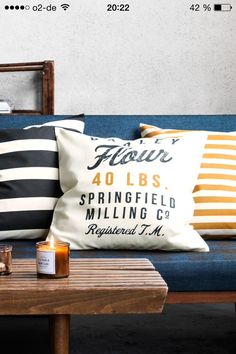 H&M Home 2014 | Autumn Winter | Living Room | Petrol - Mustard -White