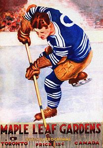 Toronto Maple Leafs Vintage Program Two by Big 88 Artworks Team Usa Hockey, Hockey World, Hockey Games, Hockey Players, History Of Hockey, Hockey Shot, Maple Leafs Hockey, National Hockey League, Toronto Maple Leafs