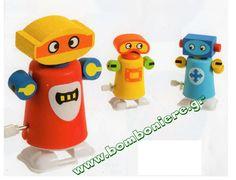 Κουρδιστό ρομπότ για μπομπονιέρα βάπτισης