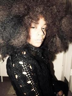 Fro. To learn how to grow your hair longer click here - http://blackhair.cc/1jSY2ux