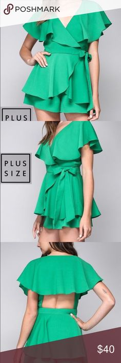 32932b8312e Shop Women s Green size Various Jumpsuits   Rompers at a discounted price  at Poshmark. Description  Kelly Green Plus Size Romper.