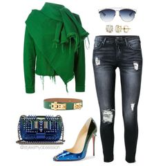 marques almeida green jacket christian louboutin degraspike pumps dior sunglasses