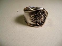 handmade spoon ring size 9-3/4, #211, Silverplate, Garland pattern1910
