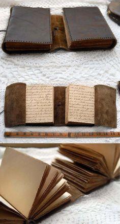 Double Expression Rustic Leather Double Journal par bibliographica