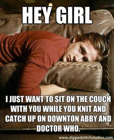 Hey girl ryan gosling doctor who downton abbey knit