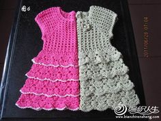 Baby Dress free crochet graph pattern-  anyone wanna make one of these for us? I'm not nearly ambitious enough ;)