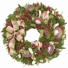 MOLOKINI SUNSET COLLECTION - SEASHELL WREATH - SUMMER WREATH -