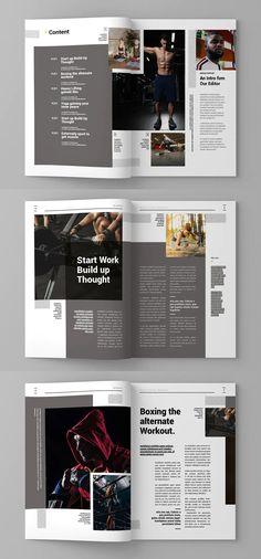 15 custom pages design. & US letter format paper size Magazine Page Design, Magazine Page Layouts, Magazine Design Inspiration, Editorial Design Magazine, Editorial Design Layouts, Booklet Design, Brochure Design, Brochure Layout, Corporate Brochure