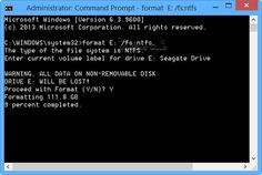 How to Format Drive or run Check Disk using Command Prompt