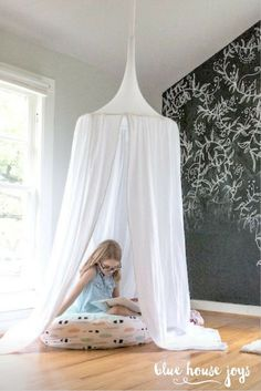 A fun and whimsical white play tent for your little one to climb into and dream about their next adventure. Baby Nursery Neutral, Baby Girl Nursery Decor, Boys Room Decor, Playroom Decor, Nursery Room, Chic Nursery, Big Girl Rooms, Boy Rooms, Kids Rooms